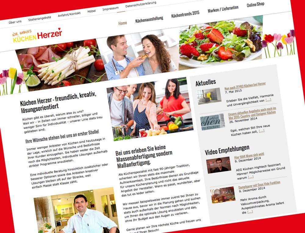 Website Gestaltung für Küchen Herzer St. Ingbert (Saarland)