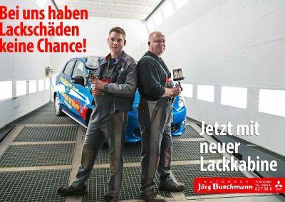 Foto für Banner Lackkabine Autohaus Buschmann Webseite