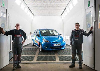 Foto Lackkabine für Autohaus Buschmann Webseite