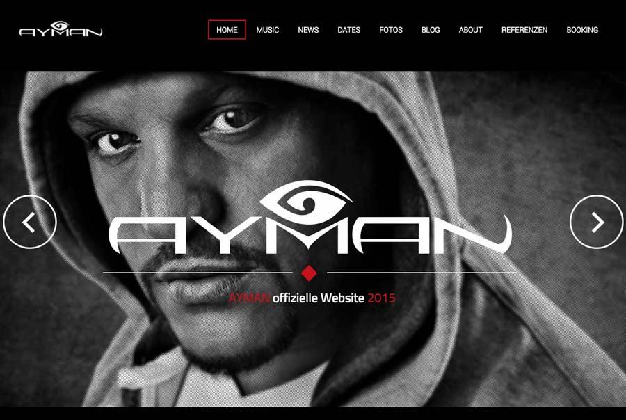 Webdesigner Berlin: Neue Künstler-Website für AYMAN jetzt online