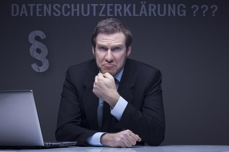 Datenschutzerklärung – ein Hinweis für Webseitenbetreiber