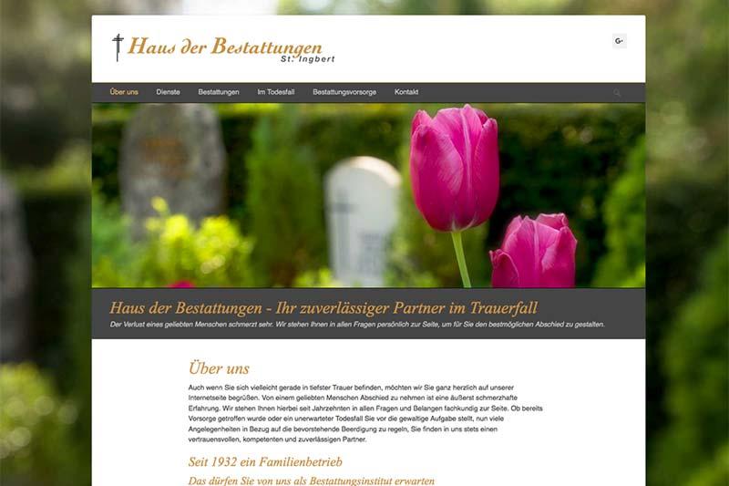 Webdesigner Berlin Webdesign Gestaltung Bestattungsunternehmen Beerdigungsinstitut Herzer St. Ingbert