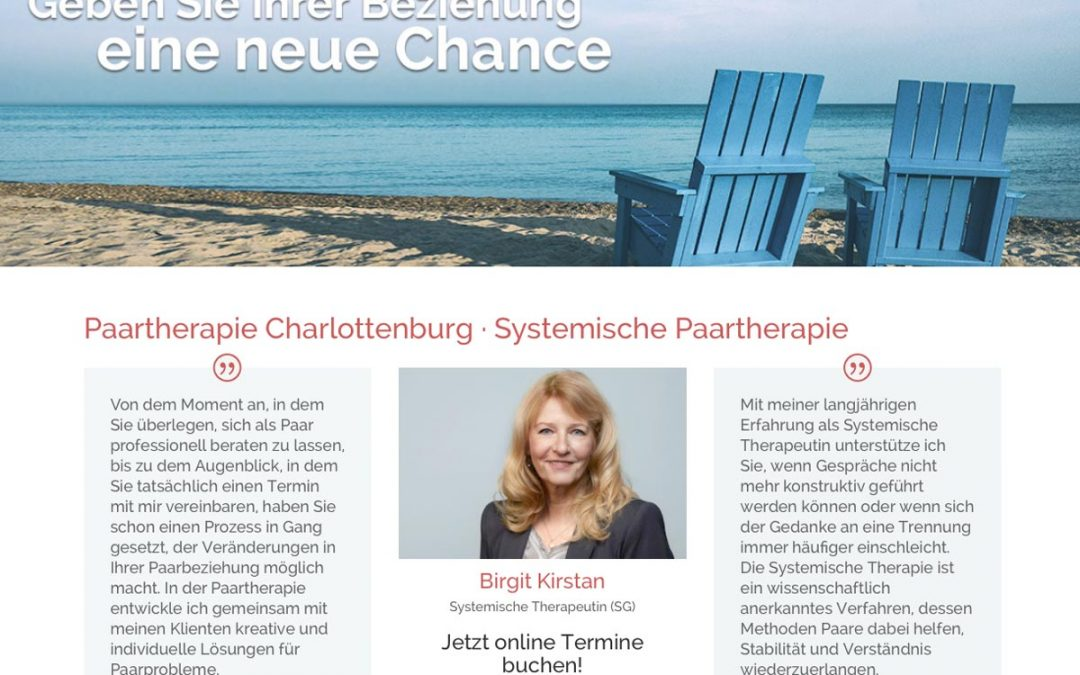 Umgestaltung Website Paartherapeutin Charlottenburg