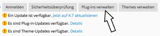 WordPress Plugins verwalten