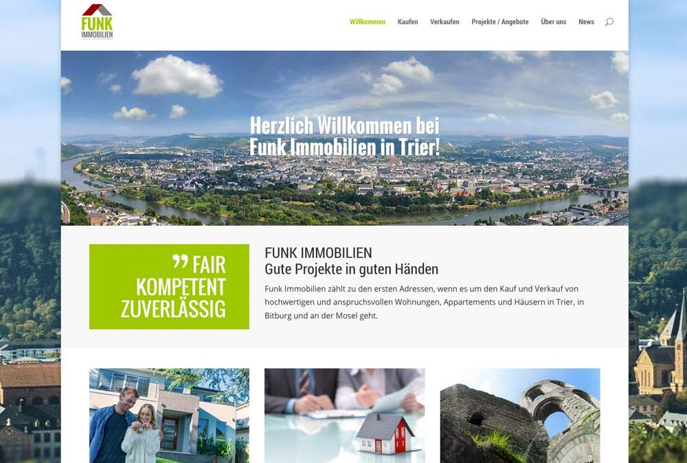 Relaunch Website Funk Immobilien