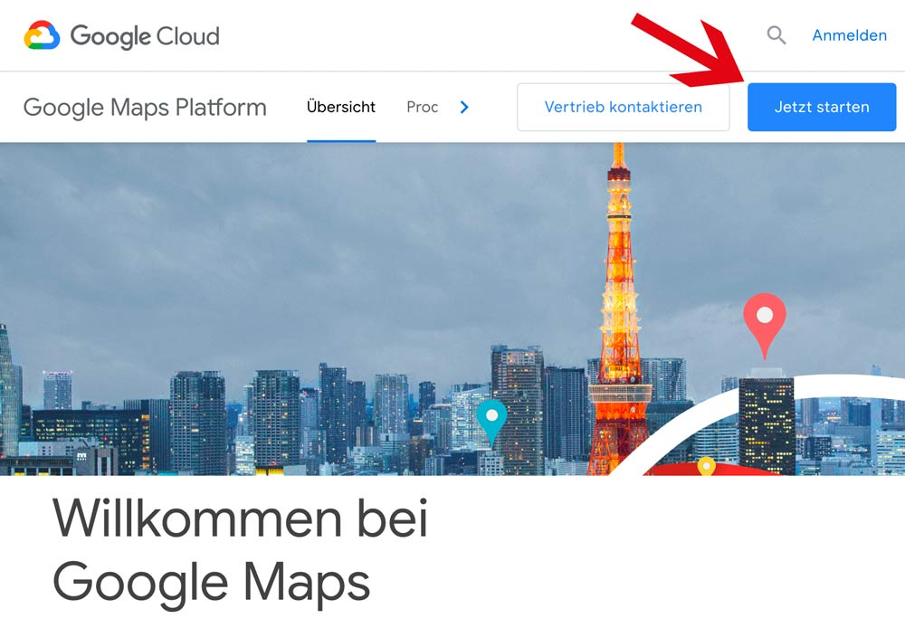 Google Maps API Key erstellen 2018