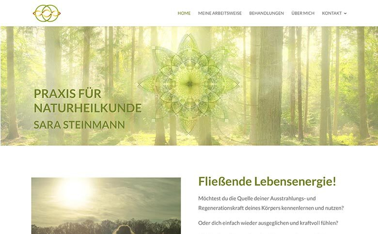 Neue WordPress Website für Naturheilpraxis Sara Steinmann in Berlin